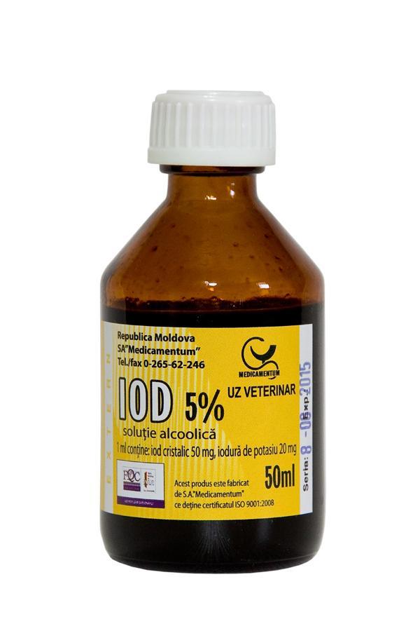 Tincture of Iodine 5% | Medicamentum | Products Made In Moldova