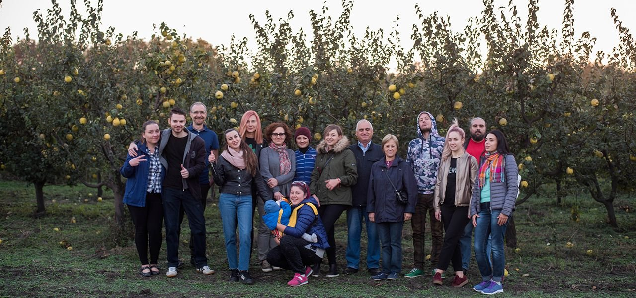 Drumul Fructelor 2018. Visiting the Quice Orchard. PHOTO