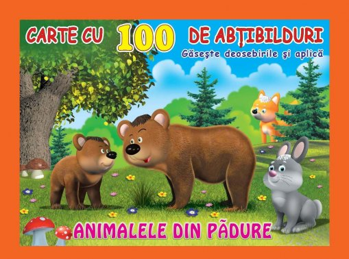100 stickers Animale din pădure