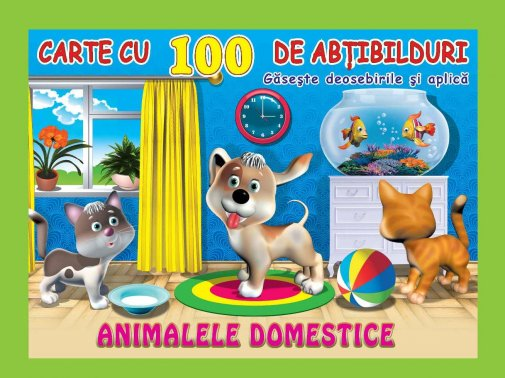 100 stickers Animale domestice