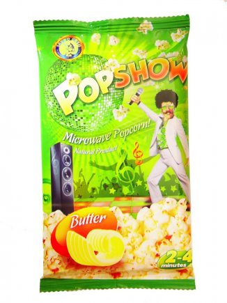 Microwave popcorn with butter flavor Popshow