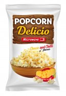 Microwave popcorn with cheese and chili flavor Delicio