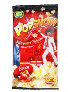 Microwave popcorn with becon flavor Popshow