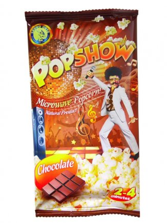 Microwave popcorn with chocolate Popshow