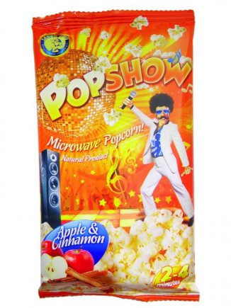 Microwave popcorn with apple and cinnamon Popshow